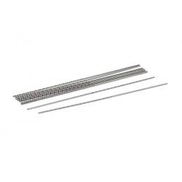 Set di 10 punte extra lunghe e ultrasottili (0,8x100 mm, HSS)