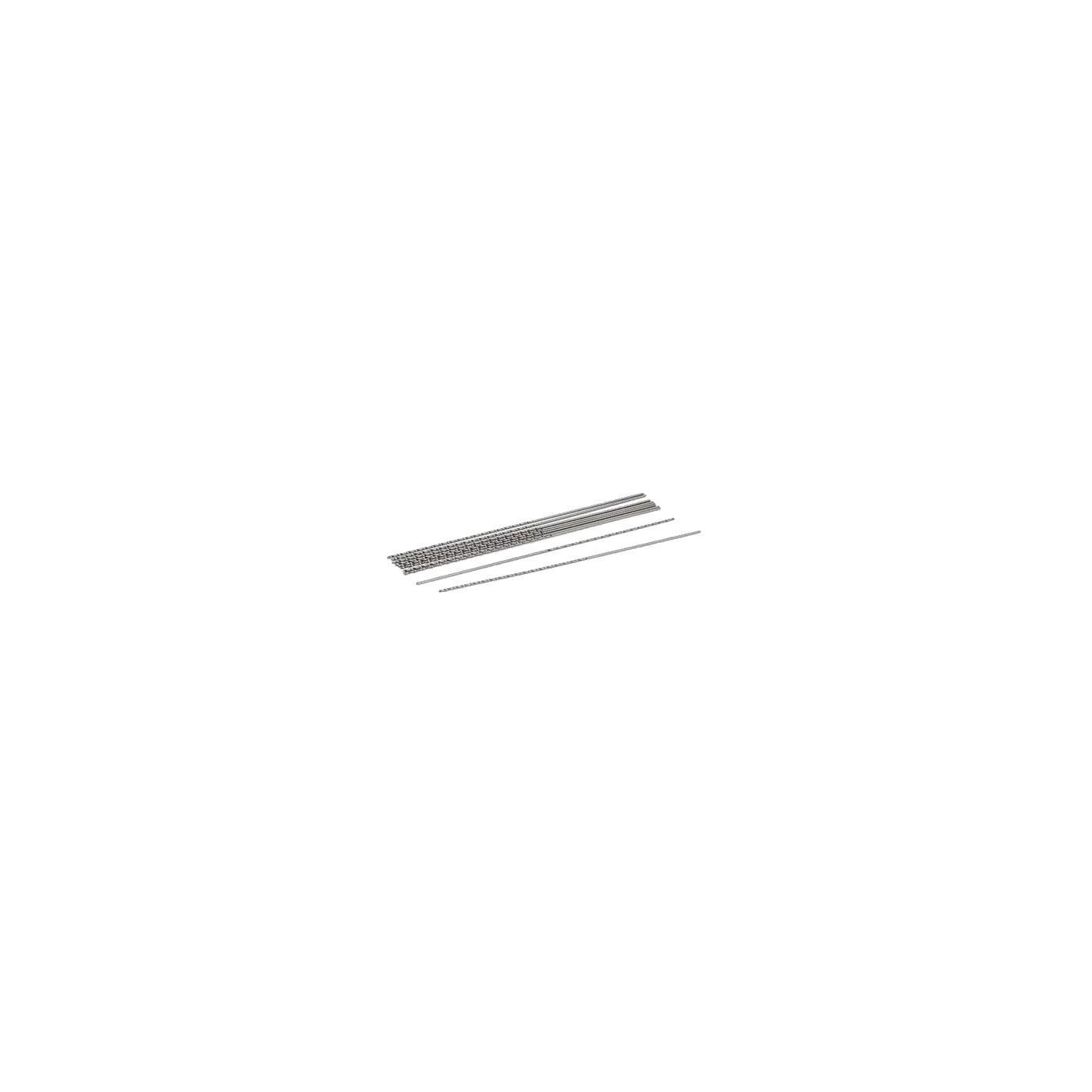 Set of 10 extra long, super thin drill bits (0.8x100 mm, HSS)  - 1