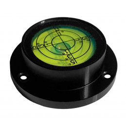 Round bubble level with aluminum case (40x30x13 mm, black)