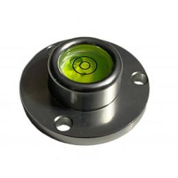 Runde Wasserwaage mit Aluminiumgehäuse (40x22x14 mm, Silber)