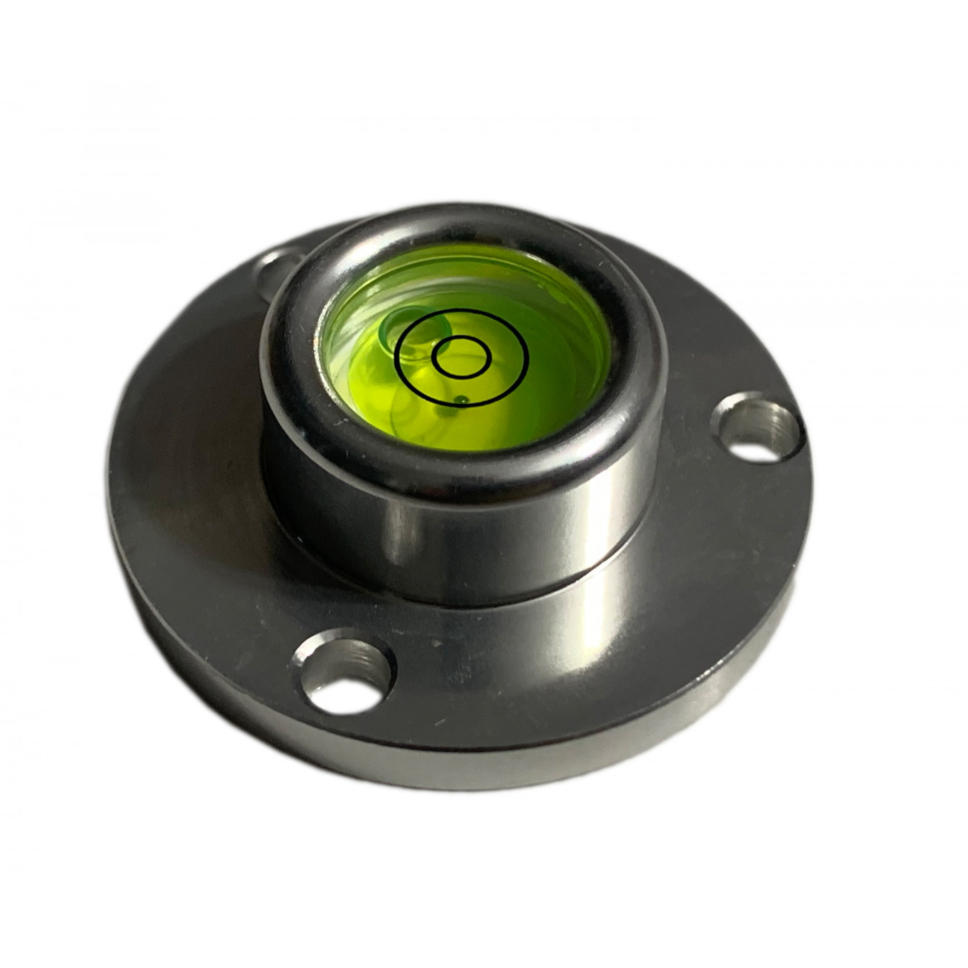 Ronde waterpas in aluminium behuizing (40x22x14 mm, zilver)