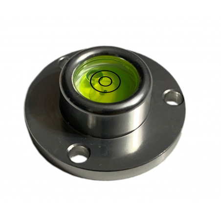 Round bubble level with aluminum case (40x22x14 mm, silver)