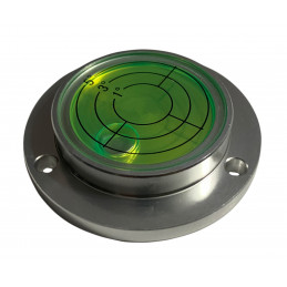Livella a bolla rotonda con custodia in alluminio (55x40x12 mm