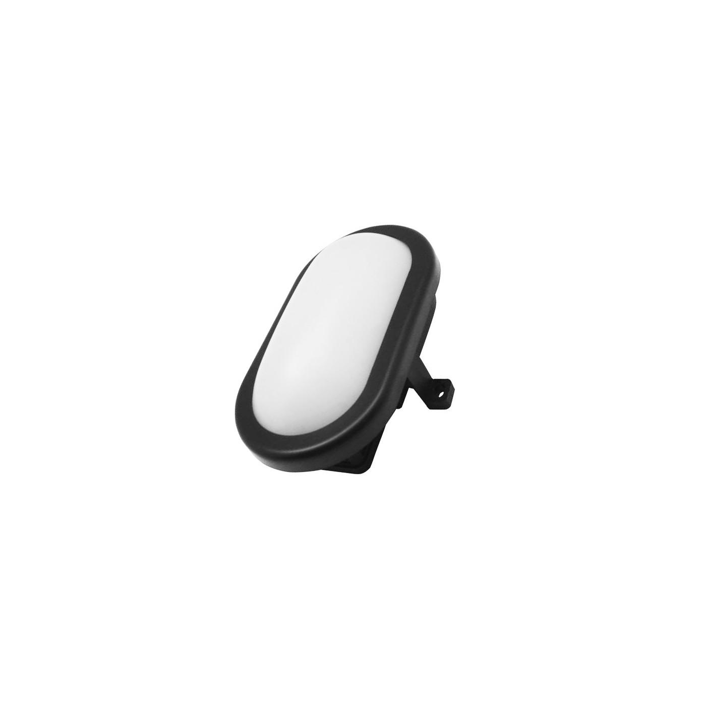 Bullseye lampada per esterni (220v, a prova di schizzi, nera)