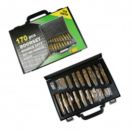 Super set HSS spiral drill bits in case (170 pieces!)  - 1