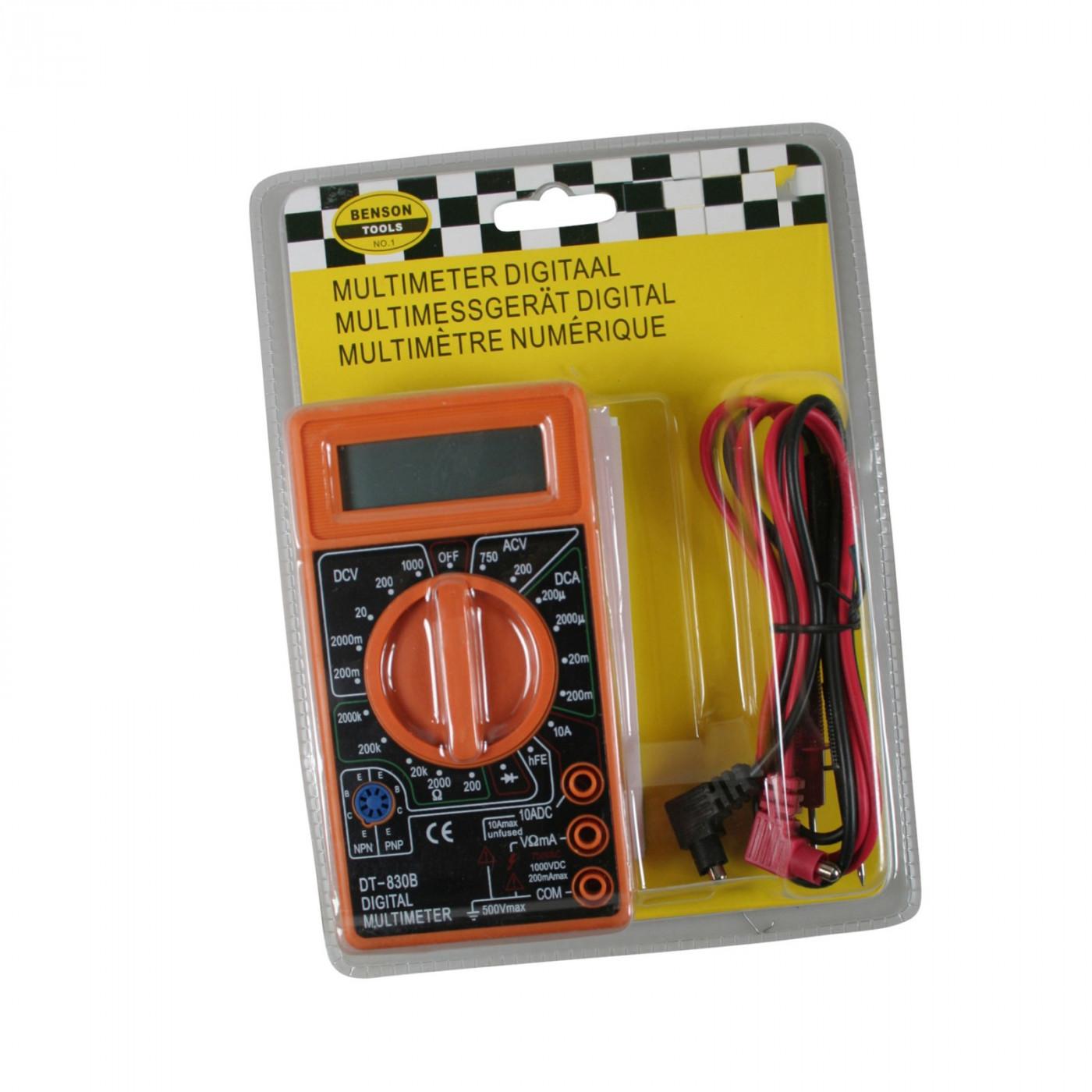 Multimetro digitale LCD (arancione)