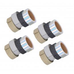 Conjunto de 16 rolos de fita brilhante (4 tipos)  - 1