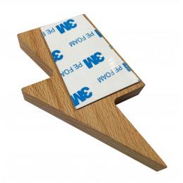 Set of 3 wooden key holders (lightning arrow, magnetic, beech wood)  - 4
