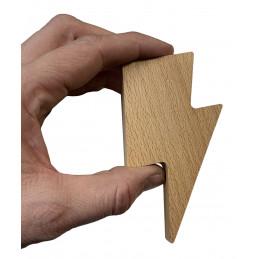 Set of 3 wooden key holders (lightning arrow, magnetic, beech wood)  - 5