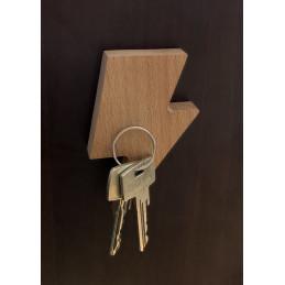 Set of 3 wooden key holders (lightning arrow, magnetic, beech wood)  - 2