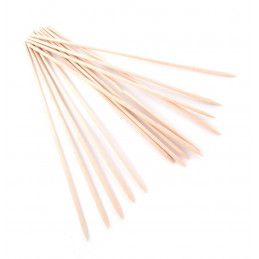Set of 200 wooden skewers, 4.0 mm x 30 cm, birch wood
