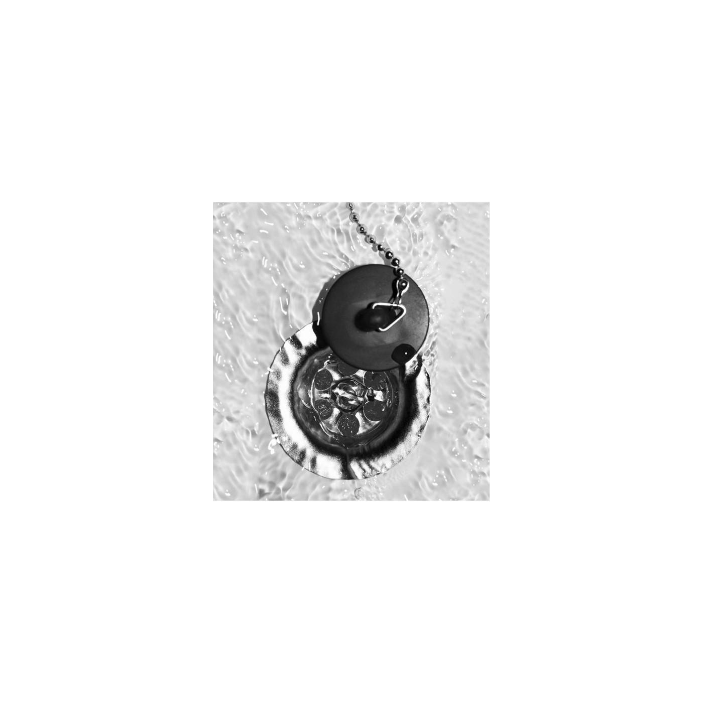 Set van 6 rubber gootsteenstoppen (44 mm, met 25-30 cm ketting)
