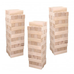 Set of 40 large wooden blocks (5x5 cm thickness, 20 cm length)