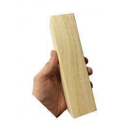 Lot de 40 grands blocs de bois (5x5 cm d'épaisseur, 20 cm de