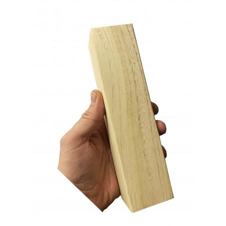 Set van 40 grote houten blokken (5x5 cm dikte, 20 cm lengte)