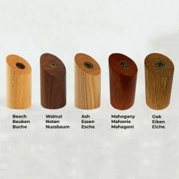 Set van 6 houten kledinghaken (kapstok), noten  - 2