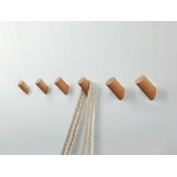 Set di 6 ganci appendiabiti in legno, faggio