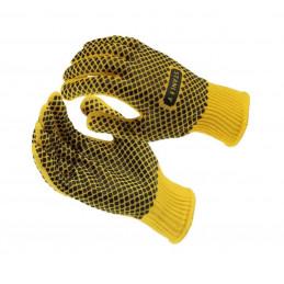 Set di guanti da lavoro Stanley (giallo / nero)