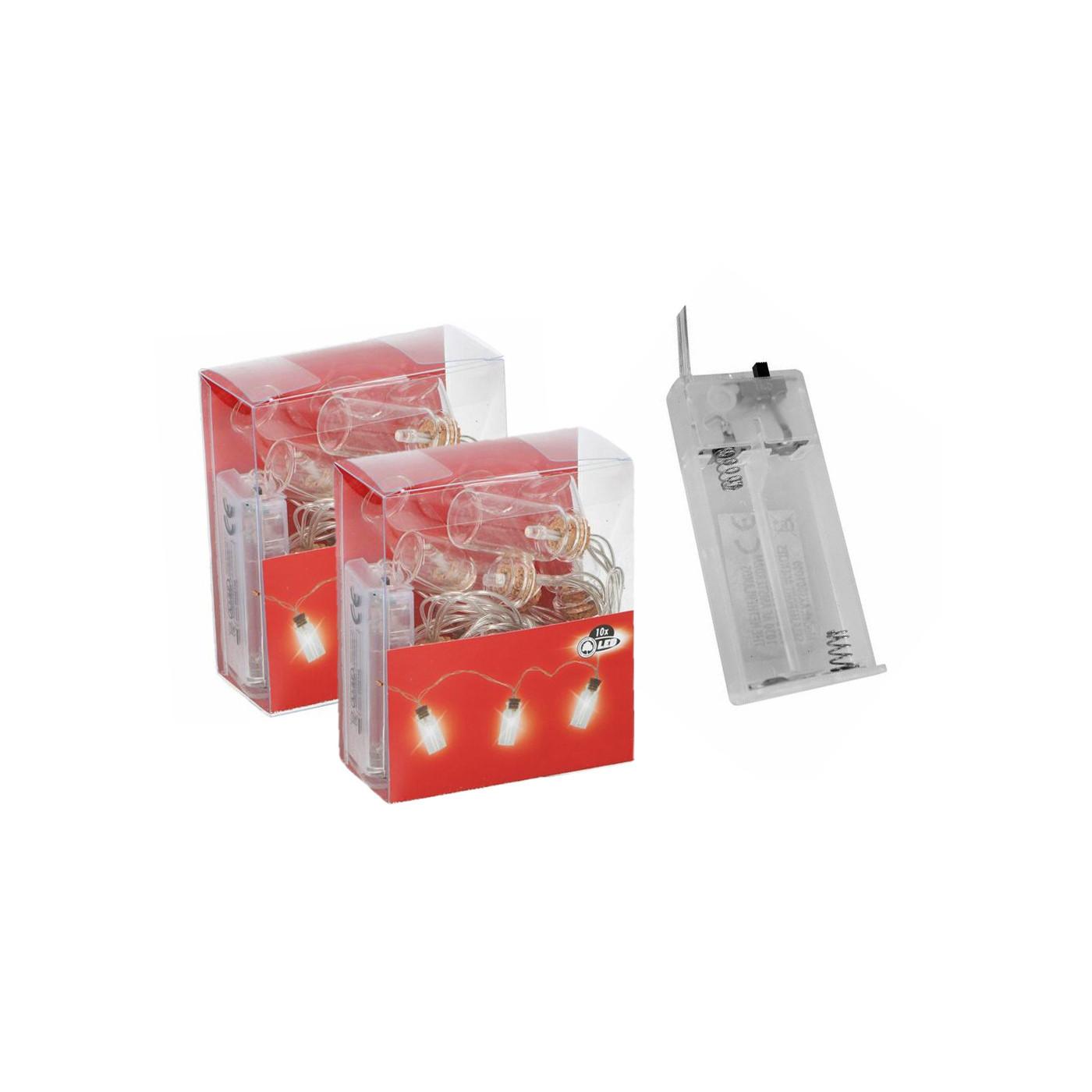 Set von 2 LED-Lichtketten mit dekorativen Flaschen (auf