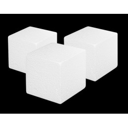 Set of 20 styrofoam shapes (cube, 5x5x5 cm)