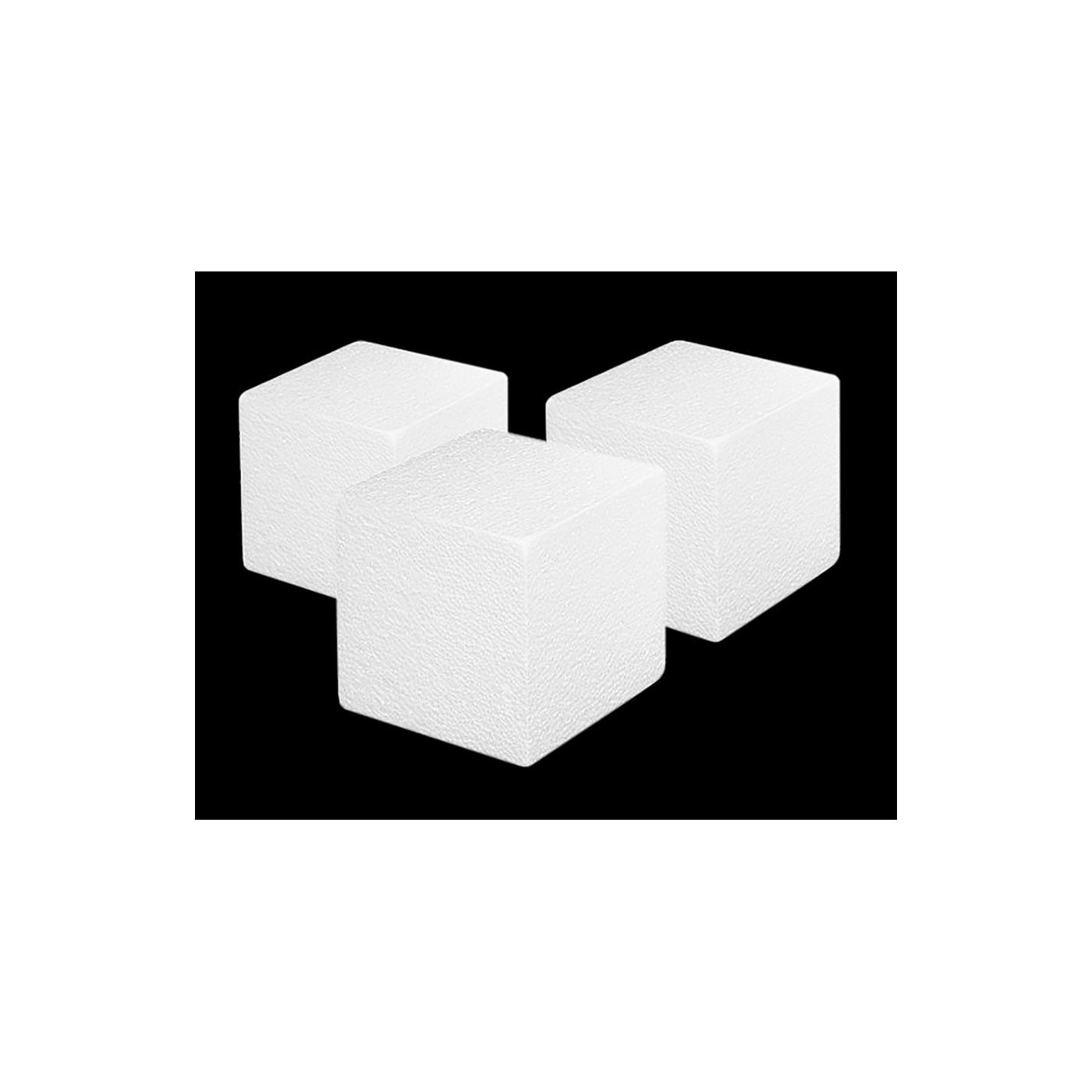 Ensemble de 20 formes en polystyrène (cube, 5x5x5 cm)