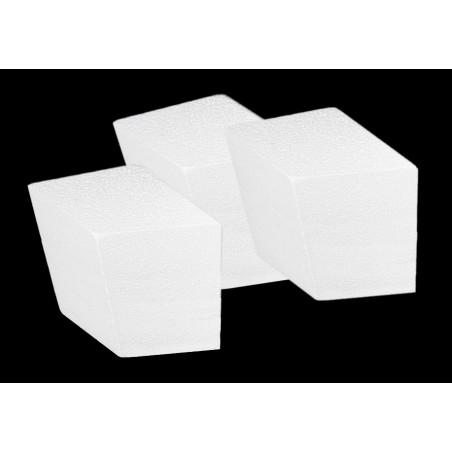 Set van 20 piepschuim vormen (ruitjesvorm, 7.5x5.5x4.5 cm)