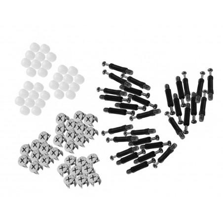 30 sets minifix kastverbinders, meubelbevestigers