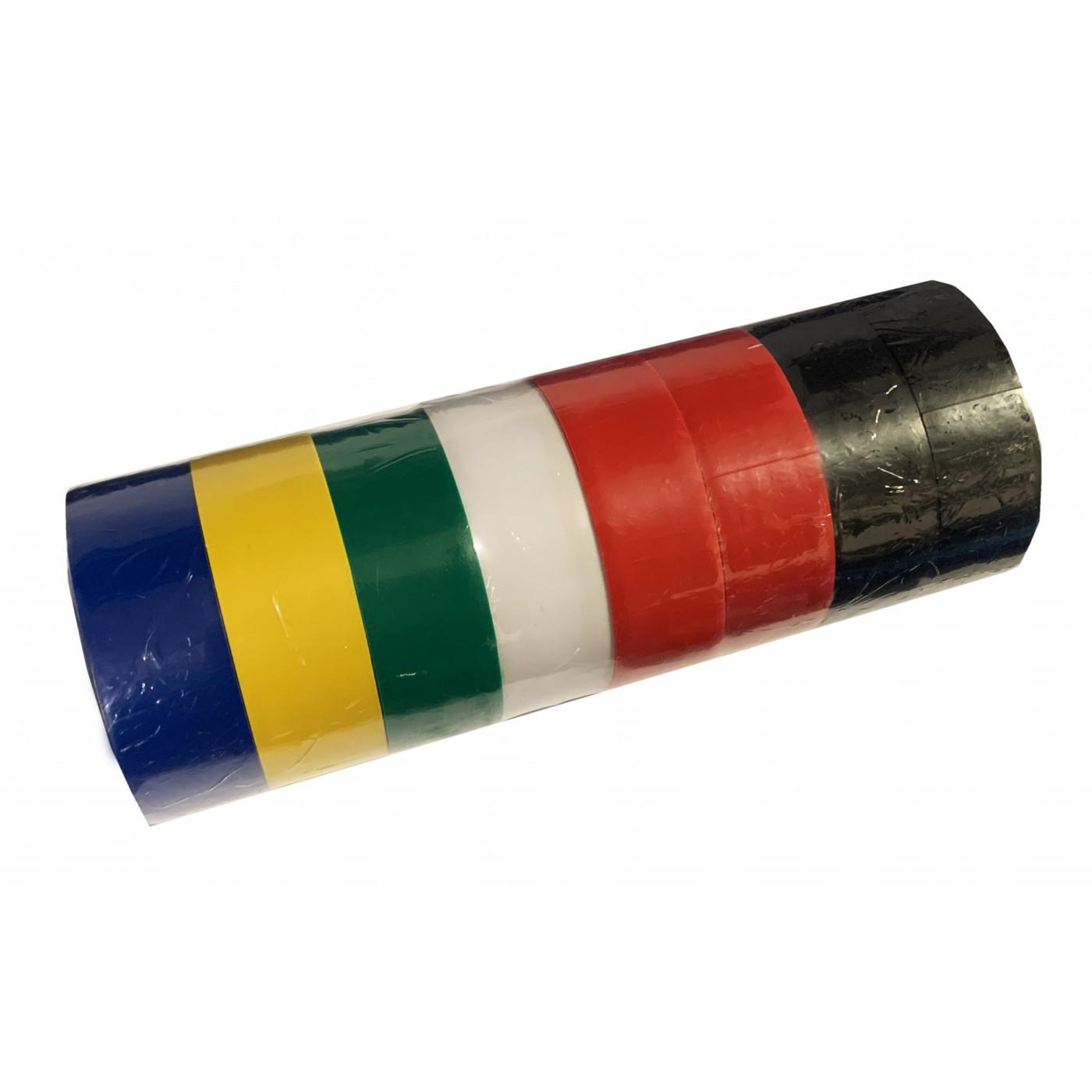 Lot de 8 rouleaux de ruban isolant (1,8 cm de large, 40 mètres