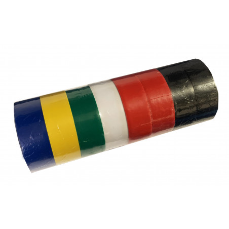 Set of 8 rolls of insulation tape (1.8 cm wide, total 40 meters