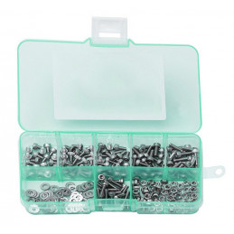 Set M2 bolts, nuts and washers, 250 pcs