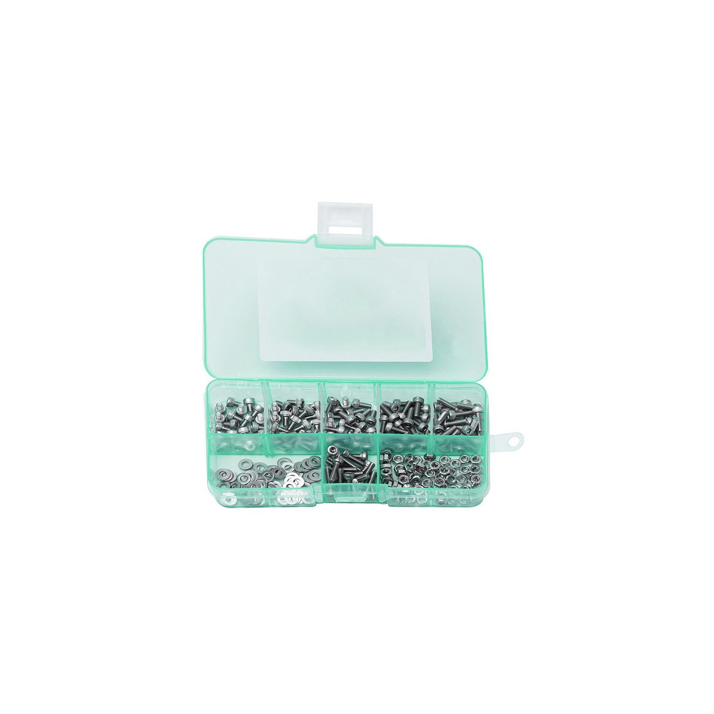 Set M1.6 bolts, nuts and washers, 250 pcs