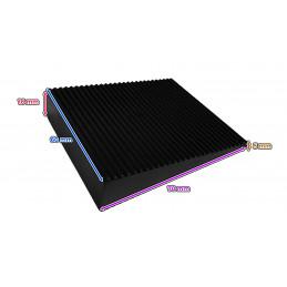 Set von 6 Keiltürstopper (PVC, schwarz, 5x16x60x70 mm)