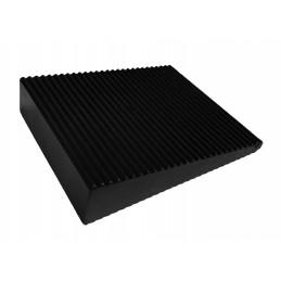 Jeu de 6 butées de porte en coin (PVC, noir, 5x16x60x70 mm)