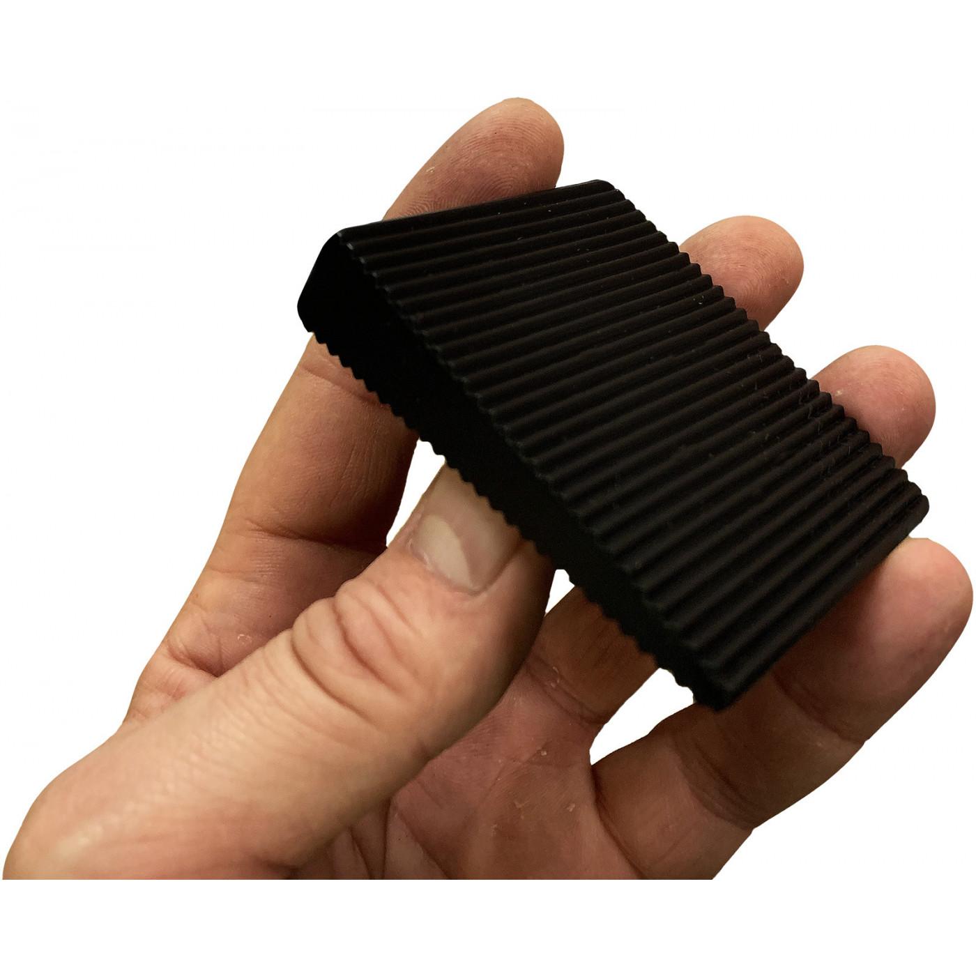 Set of 6 wedge door stoppers (pvc, black, 5x16x60x70 mm)