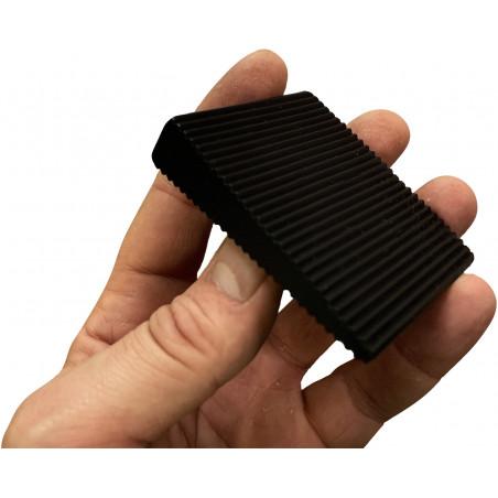 Set van 6 wig deurstoppers (PVC, zwart, 5x16x60x70 mm, laag
