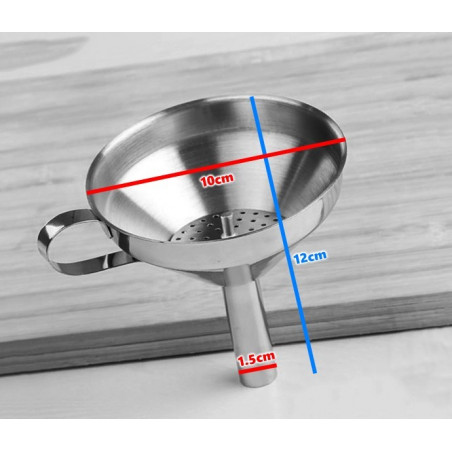 Set of 3 large stainless steel funnels  - 1