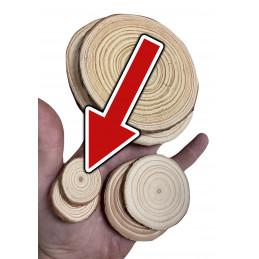 Lot de 50 tranches de bois (dia: 3-4 cm, épaisseur: 5 mm)