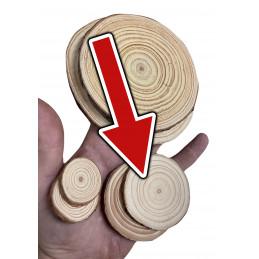 Set van 25 schijven hout (diameter: 6-7 cm, dikte: 5 mm)