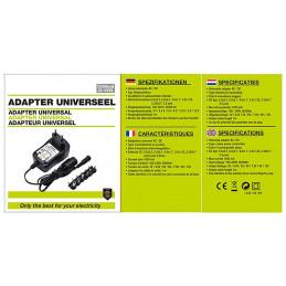 Universele adapter van 230V (AC) naar 3.0-12V (DC)