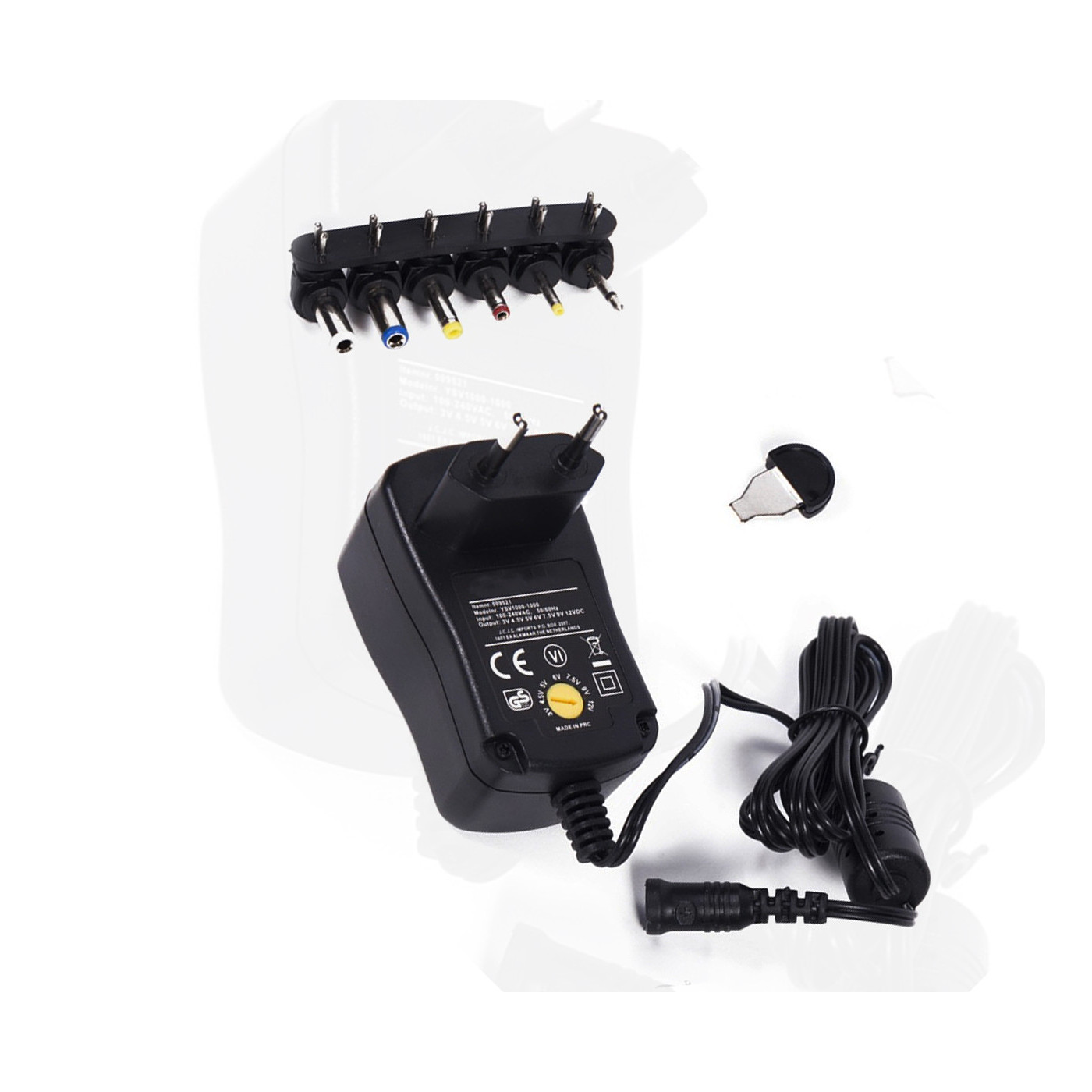 Universal adapter from 230V (AC) to 3.0-12V (DC)