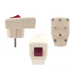 Loose wall plug for self-mounting (230V, 16A, color: cream)