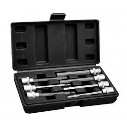 Inbusschlüssel 3/8 Zoll Steckschlüsselsatz (verlängert, 7 Stück) in Plastikbox  - 1