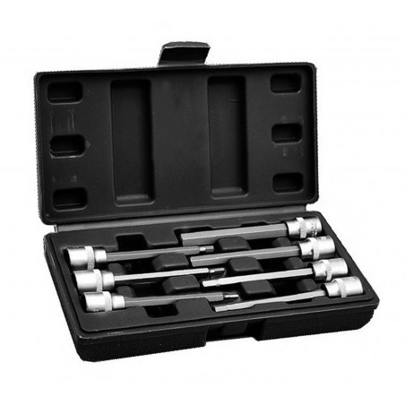 Hex key 3/8 inch socket set (extended, 7 pieces) in plastic box  - 1