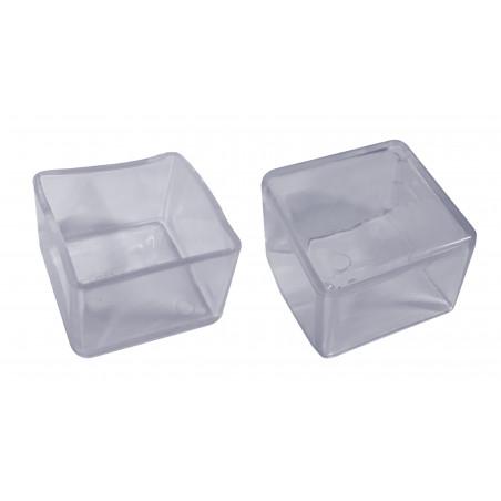 Set of 32 flexible chair leg caps (outside, square, 80 mm