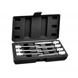 Set di bussole Torx 3/8 pollici (esteso, 7 pezzi) in scatola di plastica  - 1