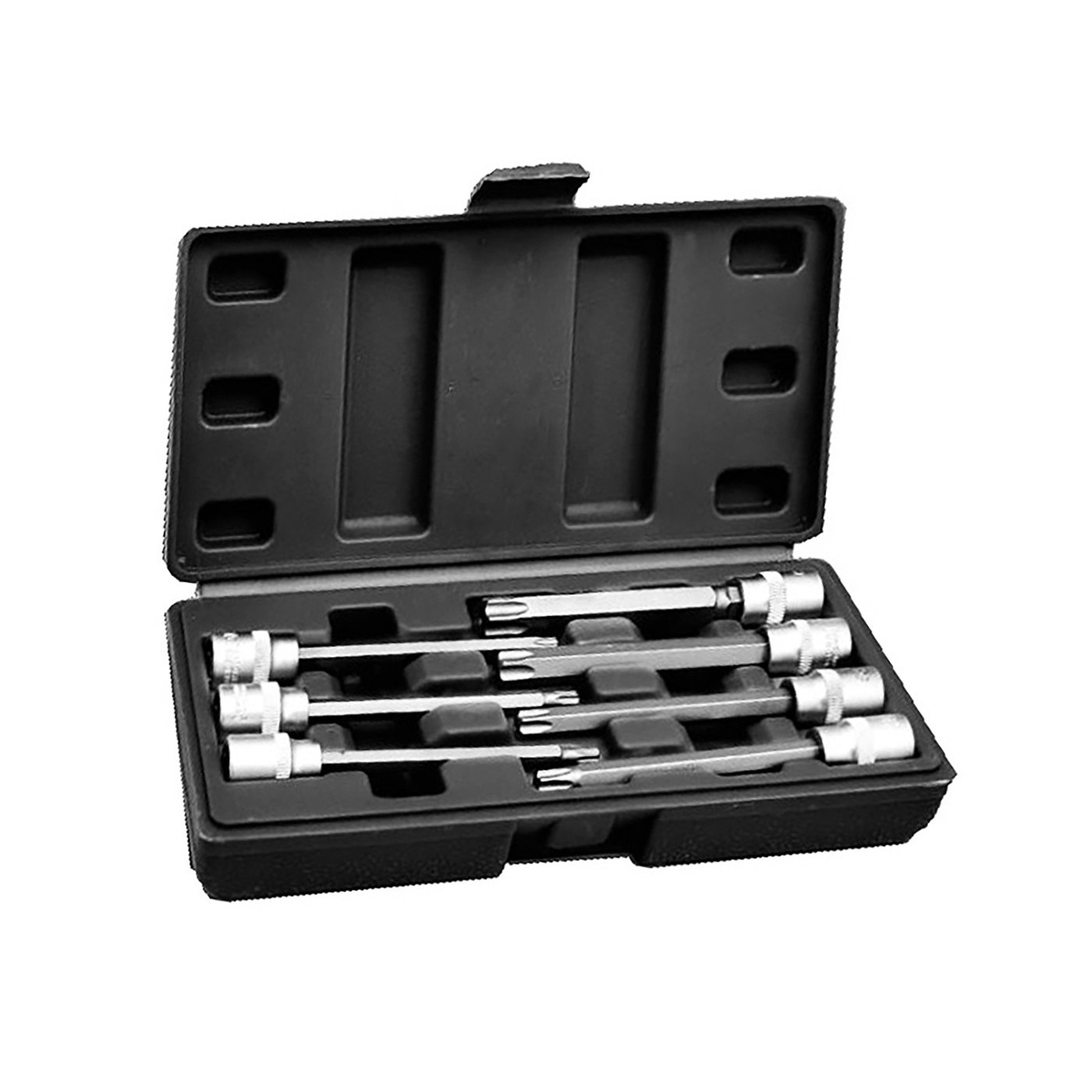 Torx 3/8 inch socket set (extended, 7 pieces) in plastic box  - 1