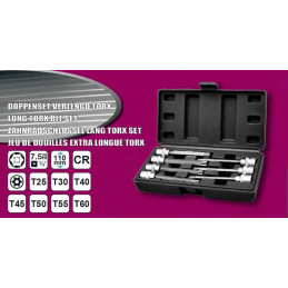 Torx 3/8 inch socket set (extended, 7 pieces) in plastic box  - 2