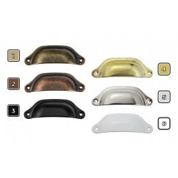 Set van 8 ijzeren handvaten voor meubels: 6. wit