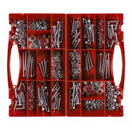 Grande conjunto de parafusos, porcas e arruelas de 900 peças em