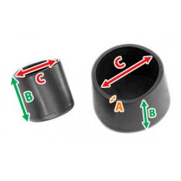 Set van 32 flexibele stoelpootdoppen (omdop, rond, 38 mm, zwart) [O-RO-38-B]  - 2